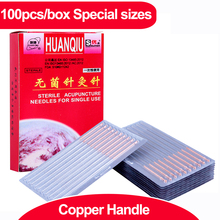 100pcs/box Acupuncture Needle Disposable Needle Acupuncture Beauty Massage Needle health care healthcare copper handle muscle massage needle stimulator cmns6 1 electronic acupuncture 6 output channel newest jia jian acupuncture needle stimulator