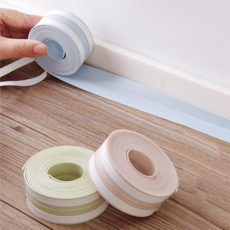 PVC Kitchen Tape Waterproof Mildew Sink Gap Corner Tape Bathroom Wash Basin Bath Crock Tape Moisture-Proof Mildew Multicolor