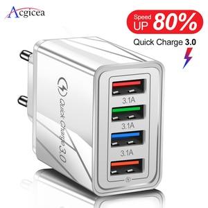 USB зарядное устройство Quick Charge 3,0 для телефона адаптер для iPhone XR Huawei Tablet Портативный EU/US вилка настенное мобильное зарядное устройство Быстрая зарядка