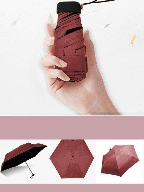 Creative Ultra-léger 50 fois lumière plate poche sac parapluie ultra léger parapluie parapluie pliant soleil parapluie mini parapluie #30