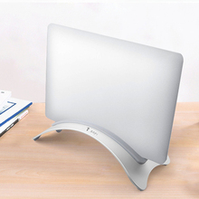 Aluminum Laptop Vertical Stand Desktop Anti Slip Erected Holder Space Saving Mount Accessories For Macbook Pro Air