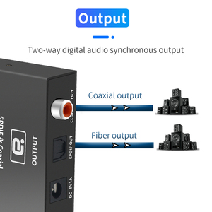 Image 4 - محول AYINO 24bit 192K DAC 5.1AUDIO رقمي إلى تناظري, محول فك تشفير الصوت DTS AC3 الألياف البصرية محوري RCA 3.5 مللي متر 5.1 بوصة