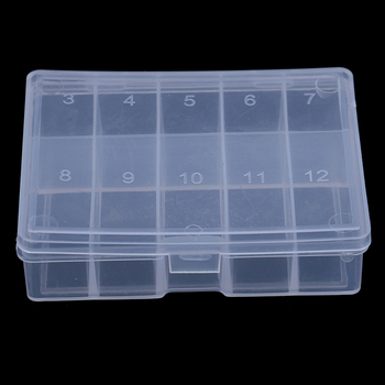 10 Compartments Mini Fishing Tackle Box Fish Lures Hooks Baits Plastic Storage Holder Square Case Pesca Fishing Accessories image