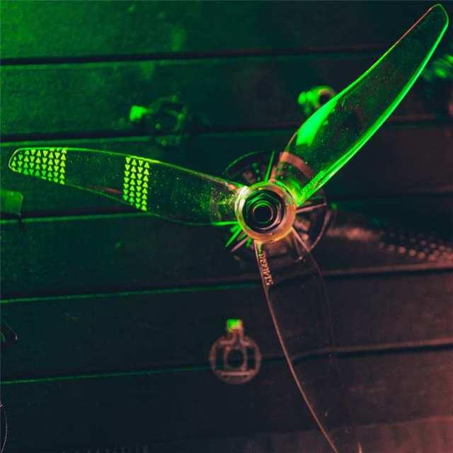 Gemfan Moonlight V2 51466 3-Blade LED Green
