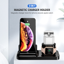 3 IN 1 Magnetic Phone Charger For iPhone X S MAX XR 8 7 Wireless Charger For Apple Watch 2 3 4 AirPods Charging Dock Station 3 in 1 magnetic phone charger for iphone x s max xr 8 7 wireless charger for apple watch 2 3 4 airpods charging dock station