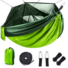 Outdoor Mosquito net camping Hammock 1-2 Person Parachute picnic Hammock Portable Hanging Hunting Sleeping hammock Swing hammock