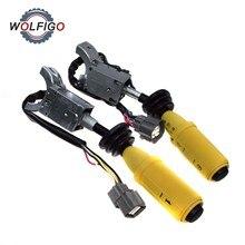 WOLFIGO Interruptor de marcha atrás y luces, interruptor de columna, señal de giro, tallo para JCB 3CX 4CX 701/37702 701/52601