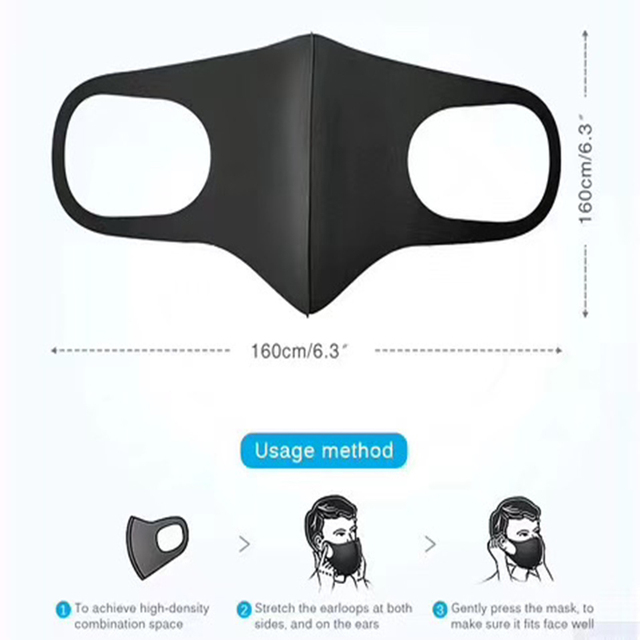 Unisex Outdoor Cycling Face Mask Anti Dust Haze Black Mouth Mask Training Protection Mask respirator facemask gasmask D30 2