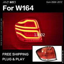AKD автомобильный Стайлинг для Benz W164 задние фонари 2006-2012 ML350 ML400 ML500 светодиодный задний фонарь дневные ходовые огни стоп Обратный авто аксессуары