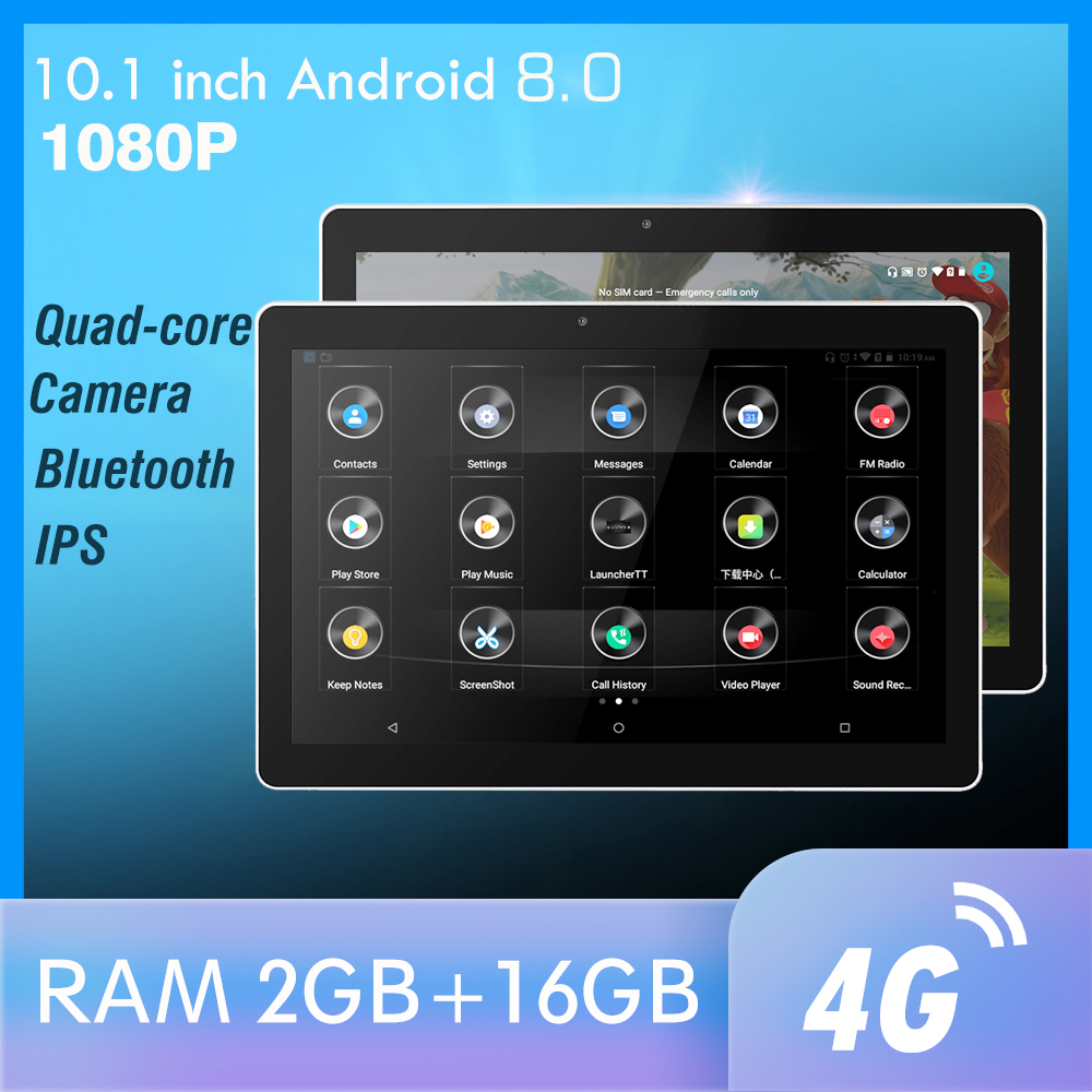 10.1 pollici Android Poggiatesta Auto Monitor di RAM 2GB 1080P video IPS Dello Schermo di Tocco 4G WIFI/Bluetooth/USB/SD/FM MP5 Video Player con DC