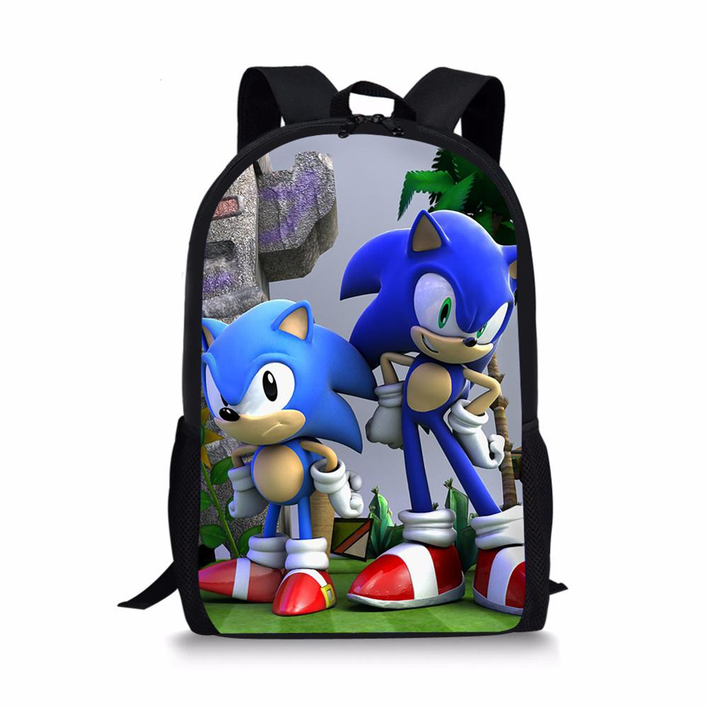 HaoYun Children's Backpack Hot Game Sonic Hedgehog Pattern Students Backpack Cartoon Design Toddler Boys Girls School Book Bags