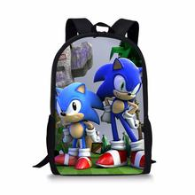 HaoYun Childrens Backpack Hot Game Sonic Hedgehog Pattern Students Cartoon Design Toddler Boys Girls School Book Bags