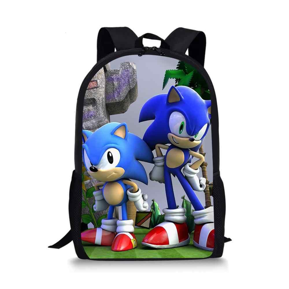 Sonic Hedgehog School Bag for Kids Boy Backpack Student Book Bag Daypack