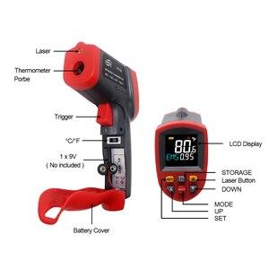 Image 4 - Digital Infrared Thermometer Red Laser Temperature Meter Detector Non Contact IR Pyrometer LCD Temperature Meter Gun Point