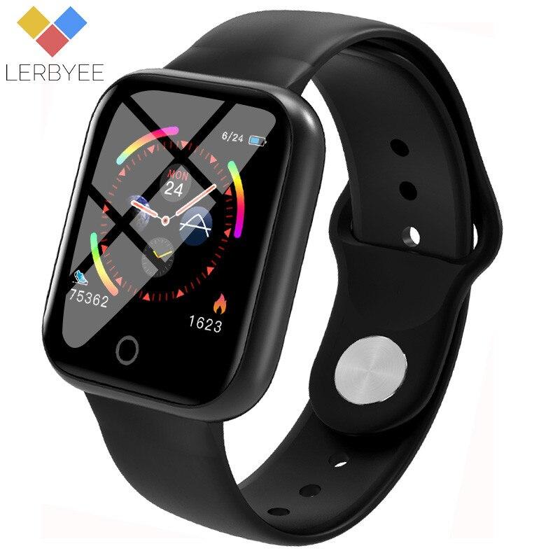 I5 Lerbyee Venda Quente Relógio Inteligente À Prova D' Água Heart Rate Monitor de Fitness Rastreador Pedômetro Call Reminder Relógio Do Esporte para Cycing