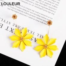 Louleur Acrylic Flower Petals 925 Silver Earrings Fashion Sweet Drop For Women Female Bohemian 2019 New Party Jewelry