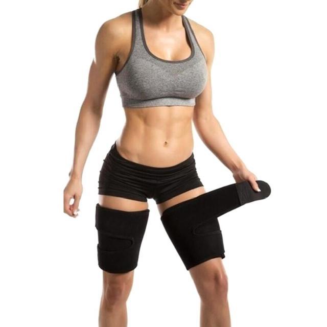 2pcs Fitness Leggings Belt Leg Shaper Sauna Sweat Thigh Trimmers Calories off Slimming Legs Fat Thermo Neoprene Compress Belt 2