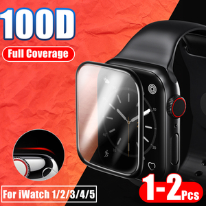 Image 1 - 20D מעוקל מלא כיסוי מזג זכוכית עבור Apple שעון 1 2 3 4 מסך מגן עבור Iwatch 38 40 42 44mm מגן זכוכית סרט