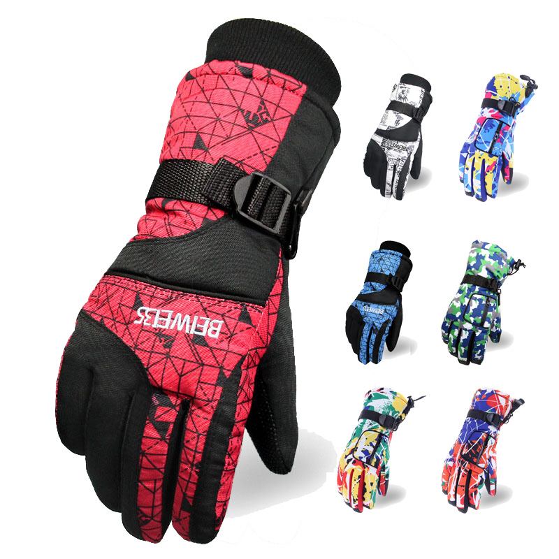 Ski Gloves For Men And Women Winter Warm Ski&Snowboard Gloves Waterproof Winter Thick Snow Gloves Fleece Cycling Climbing Gloves