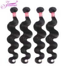Jessenia волосы малазийские волнистые пучки s человеческие волосы пучок s 4 пучка предложения remy волосы переплетения 8-26 дюймов натуральный черный