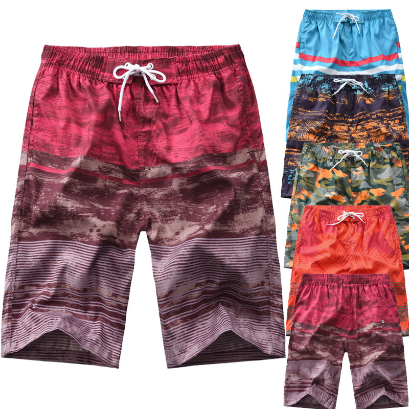 2019 Summer New Style Men'S Wear Stripes Camouflage Mixed Colors Printed Fashion MEN'S Beach Pants Men Casual Men's Shorts