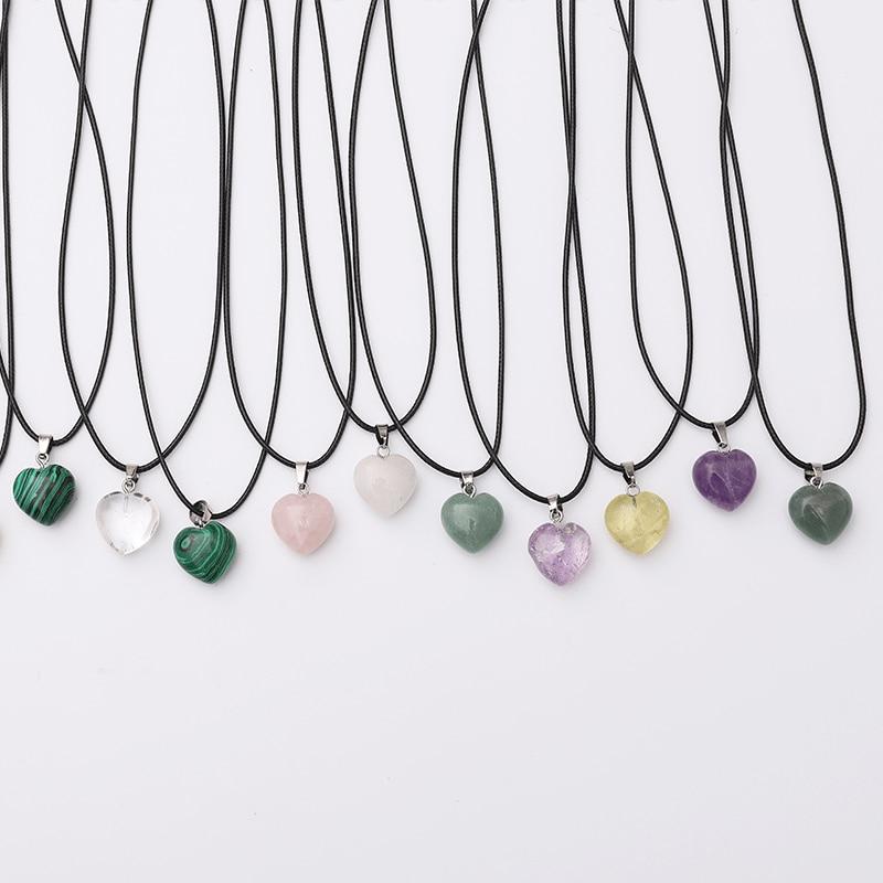 Массивное ожерелье аксессуары Подвеска из натурального камня