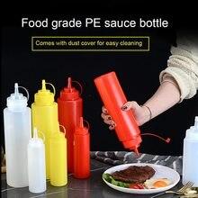 Dispensador de plástico de condimentos para cozinha, filtro de vinagre para molho, óleo de ketchup, acessórios de cozinha, garrafa de espremer, 8oz 12oz