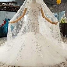 Ls087841 elegante sereia vestido de casamento com renda longa véu o pescoço boné mangas trompete entre 2020 abito da sposa a sirena