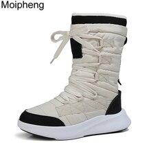Moipheng Kampf Stiefel für Frauen Qualität Plattform Stiefel Mid-Kalb Winter Stiefel Frauen Runde Kappe Motorrad Stiefel Zapatos Para mujer