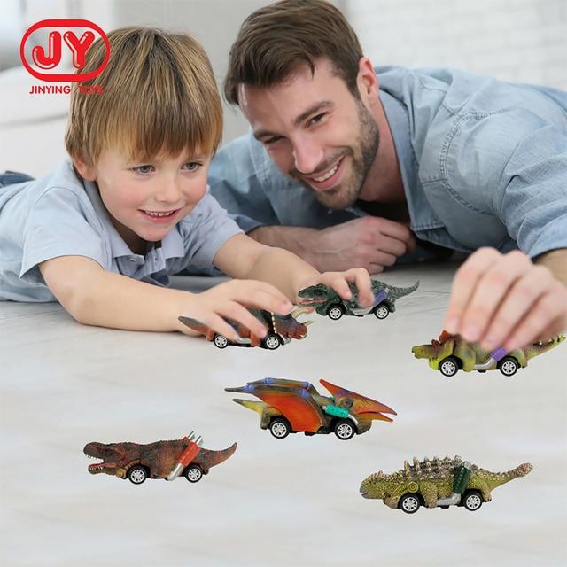 Dinosaur Cars Model Pull Back Vehicles Boys Toys 2
