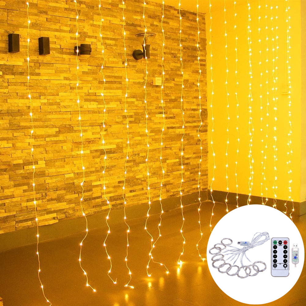 Curtain Fairy String Light 3*3m 300LEDs Christmas Decorations For Xmas Light Christmas Tree Decor 2019 Navidad Ornament Gift,Q