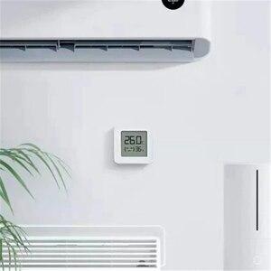 Image 4 - Термометр Xiaomi Mijia 2, Bluetooth датчик температуры и влажности, цифровой гигрометр с ЖК дисплеем, измеритель влажности, работает с приложением Mi home