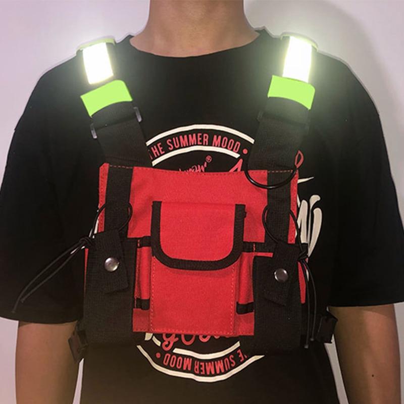 Tactical Chest Rig Bag Unisex Streetwear Hip Hop Chest Bag Function Chest Rig Vest Bags For Men Kanye West Trend Chest Pack