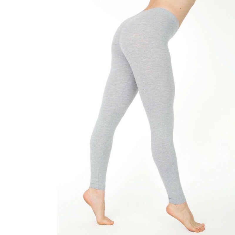Nữ Cotton Trắng Đen Màu Skinny Co Giãn Quần Áo Quần Legging Tập Yoga