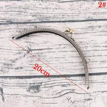 DIY 20cm Antique Brass Metal Purse Frame Ring Kiss Clasp Handle For Bag Craft Bag Making Sew Handbag Accessories(China)