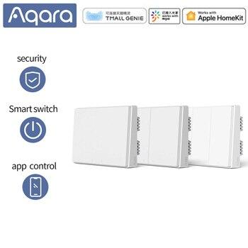 Aqara Mijia Zigbee Smart Wall Switch D1 Wireless Remote Control Light Switch Via Smartphone APP For Xiaomi Mijia Smart Home