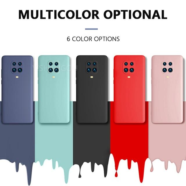 Liquid Silicone Case Cover For Xiaomi POCO X3 Pro M3 F3 11 10T Redmi Note 10 Pro 8 9A 9T K40 Soft Case For Redmi Note 9 Pro Case 6