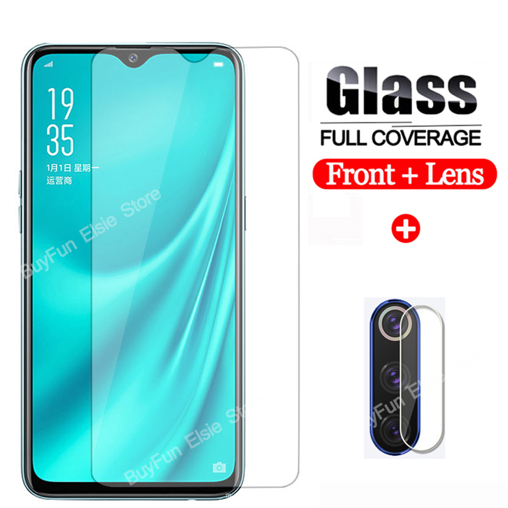 2-in-1 Tempered Glass For OPPO Reno 2 Reno6.4'' F11 Realme 3 5 Pro A5s A5 A9 2020 F9 Screen Protector Glass Camera Lens Film