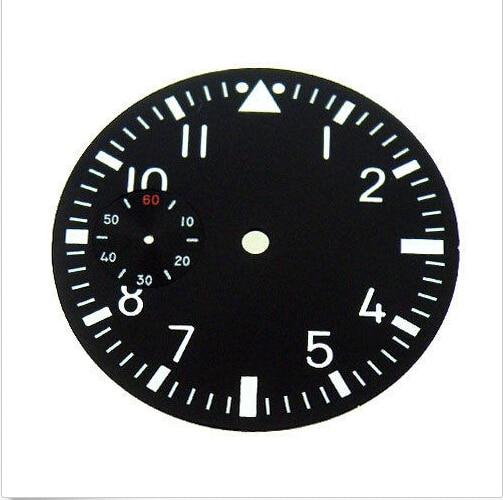 Mostrador do Relógio Bliger Mostrador Preto Ajuste 6497 Movimento Masculino 38.9mm