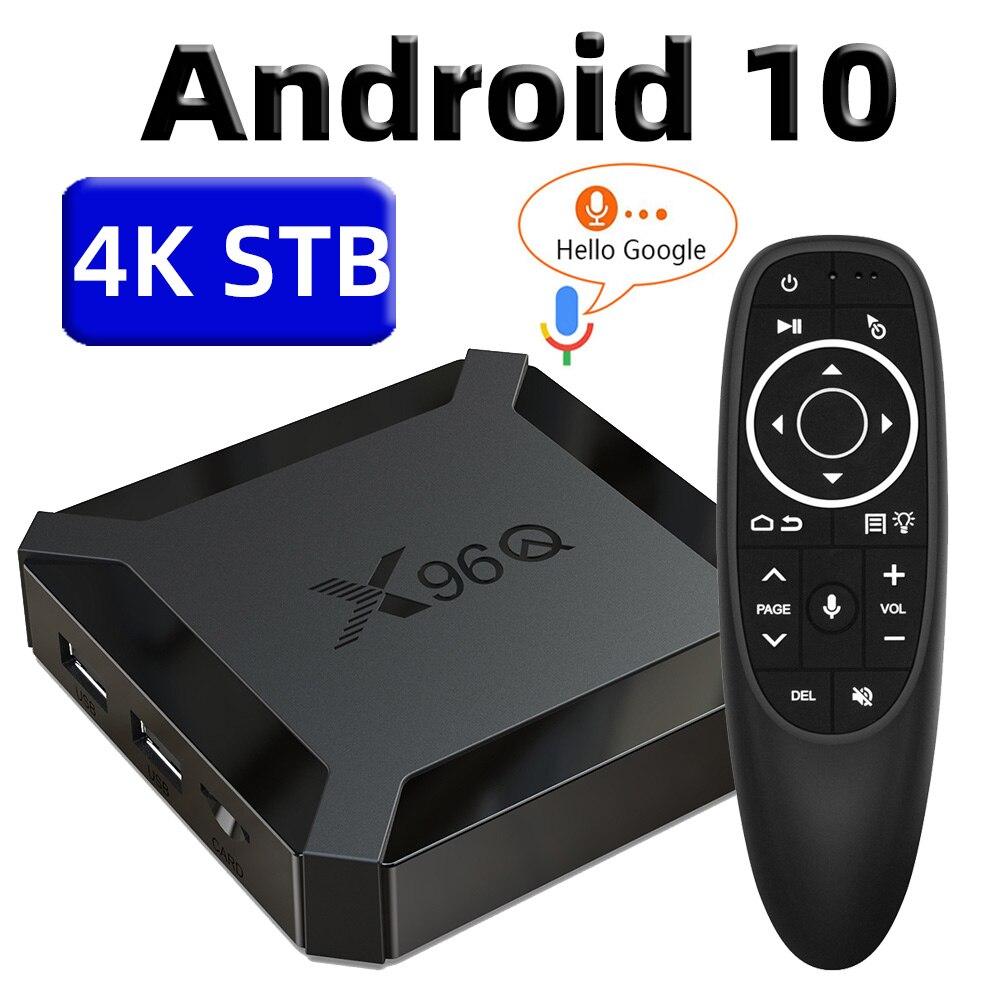 X96Q TV Box Android 10 Smart Tv Box 2020 TvBox Allwinner H313 Quad Core 4K 60fps 2.4G Wifi Google Player Youtube Netflix Pk X96