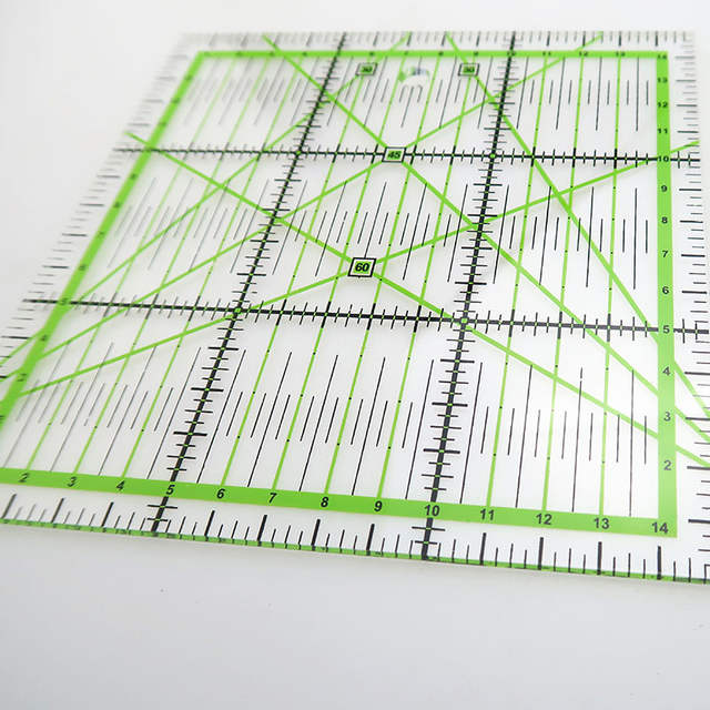 1*Making Acrylic Quilting Ruler Patchwork 15*15cm Tool Tailor Measuring  Premium