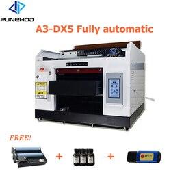 Punehod A3 DX5 Inkjet UV Printer Automatic Digital Flatbed Mobile Phone Case PVC Card Printing Machine 8 Colors cmyk+wwww