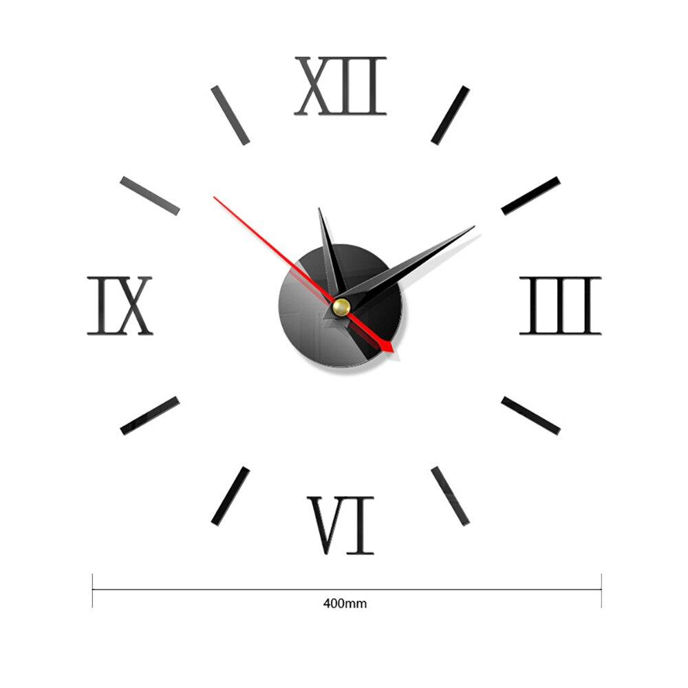 Настенные стикеры s современные 3d настенные часы стикер зеркальная
