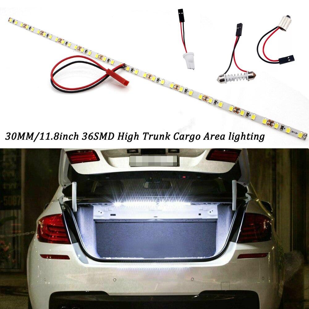 KAMMURI 36-SMD-2835 T10 W5W 12V Светодиодный светильник лента для автомобильного багажника багажном отделении или крытый светильник ing 6000 K xénon blanc/синий/...
