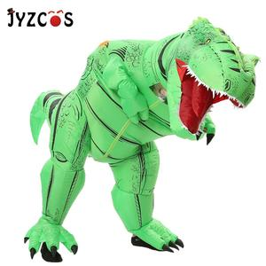 Image 5 - JYZCOS Dinosaur T REX Inflatable Costume for Women Men Kid Carnival Costume Halloween Cosplay Costume Mascot Party Purim Costume
