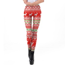 цена на Women Workout Fitness Leggings Christmas Pants Santa Casual Snowman Elk Bell Print Jumpsuit Clothes Stylish Slim Leggings