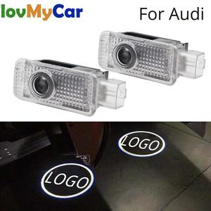 2X For Audi Door Light Welcome Light Projection Lamp Logo LED for Audi logo A1 A3 A4L A6L Q3 Q5 Q5L R8 RS3 RS4 RS5 RS6 5W Laser(China)