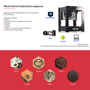 Image 4 - NEJE DK 8 KZ 1500/2000/3000mW profesyonel DIY masaüstü Mini CNC lazer gravür kesici gravür ahşap kesme makinesi yönlendirici
