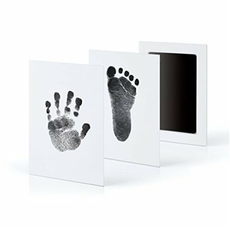 Baby Boy Girl Paw Print Pad Foot Print Maker Photo Frame Touch Ink Pad Kids Toddler Newborn Souvenir Stamp Memories DIY