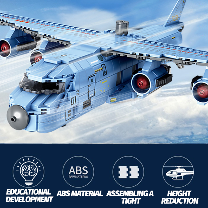 SEMBO Block SWAT Team Transport Aircraft Building Blocks